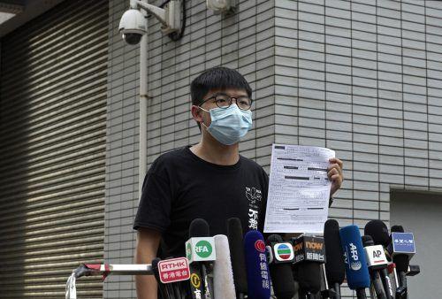 Der 23-Jährige ist ein bekannter Vertreter der Demokratiebewegung. AP