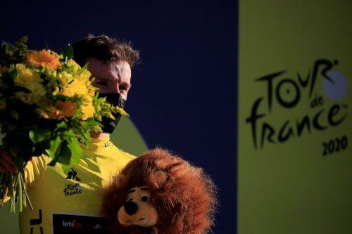 Der Brite Adam Yates nimmt nun die zweite Bergetappe bei der diesjährigen Tour de France im Gelben Trikot in Angriff.afp