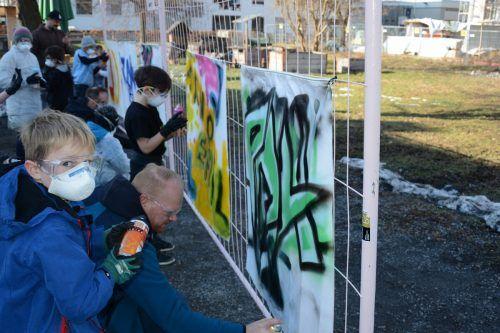 Beim Graffitiworkshop am 10. Oktober können Väter und Kinder wieder kreativ sein.vlbg familienverband