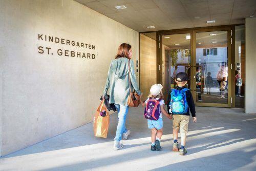 Der neue Kindergarten St. Gebhard in Bregenz wurde rechtzeitig fertig. Udo Mittelberger