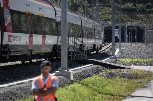 Der reguläre Betrieb des Ceneri-Bahntunnels beginnt im Dezember. AFP