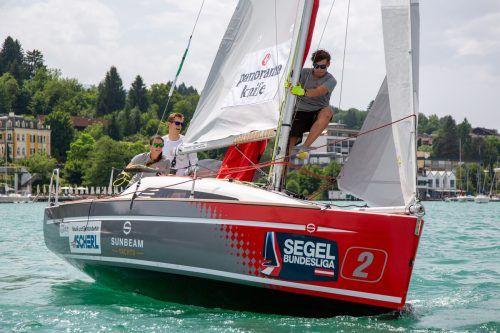 Der Yacht Club Hard kämpft am Attersee um dienächsten wichtigen Punkte.Schreder
