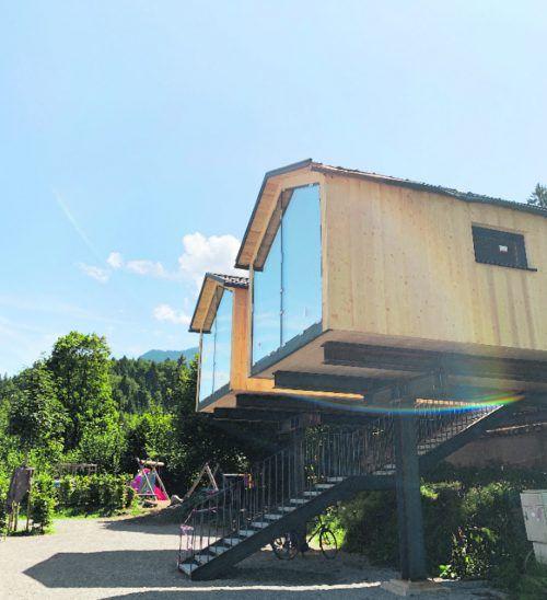 Die bestehenden Spielhäuser am Nenzinger Campingplatz werden adaptiert und stehen künftig Familien zur Verfügung.Morik