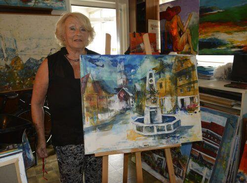 Die Bilder von Elfi Mayer-Kollmannsberger sind im Rahmen einer Vernissage am 1. Oktober im Kulturhaus zu sehen.eh