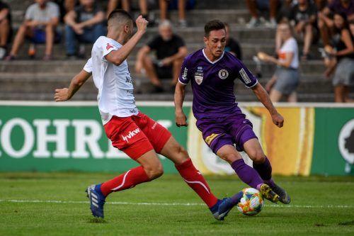 Die bisherigen zwei Duelle ziwschen dem FC Dornbirn und Austria Klagenfurt endeten jeweils mit einem Remis. Damit wäre man auch heute zufrieden. gepa