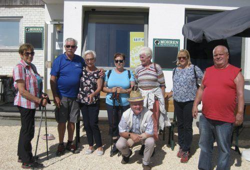 Die Bregenzer Senioren unternahmen eine Wanderung nach Bildstein. sb