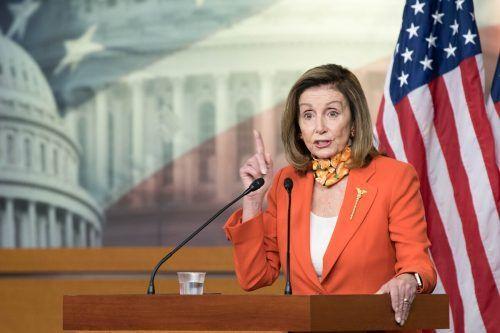 Die Demokratin Pelosi forderte Klarheit über Trumps Steuerzahlungen. AFP