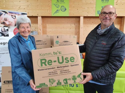 Die erste Re-Use-Box ging an die Umweltaktivistin Hildegard Breiner. GV