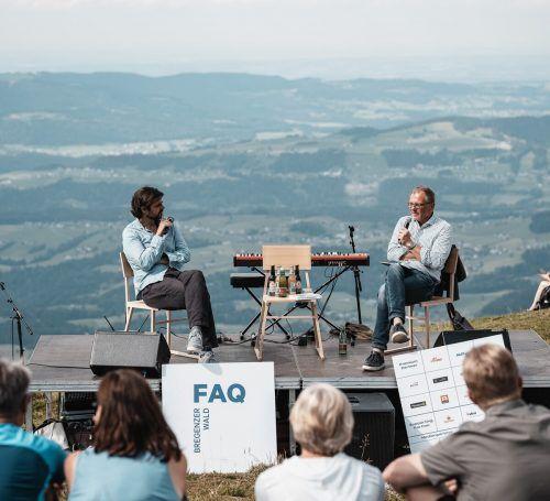 Die FAQ-Veranstaltungen waren heuer ausgebucht. Im Bild:Armin Wolf im Gespräch mit Juan Moreno. FAq/ehm