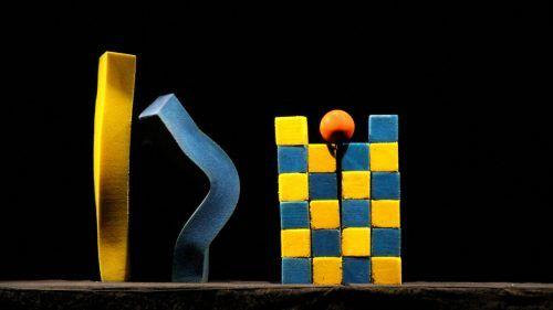 Die geometrischen Formen auf Schaumstoff wurden ganz ohne Worte zum Leben erweckt.