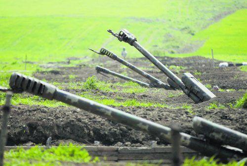 Die Kämpfe um Berg-Karabach zwischen Armenien und Aserbaidschan forderten am Wochenende auch zivile Opfer.AP