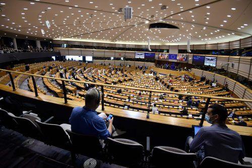 Die Kommissionspräsidentin hielt im Europaparlament ihre erste Rede zur Lage der EU. AFP