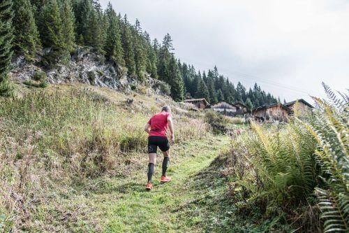 Die letzten Meter: Die Bergläufer können sich auf dem Maisäß Tafamunt auf einen besonderen Zieleinlauf freuen. PATRICK SAELY PHOTOGRAPHY