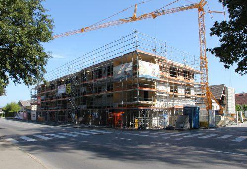 Die neue Wohnanlage von Alpenländischer und Rhomberg Bau in der Oberaustraße in Gisingen.Rhomberg