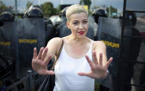 Die Oppositionelle Maria Kolesnikova ruft zum Generalstreik auf.AP