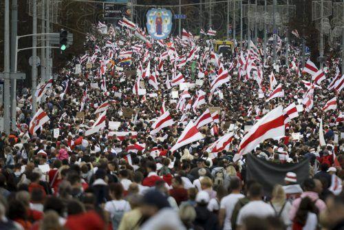 Die Proteste in Weißrussland reißen nicht ab. AP