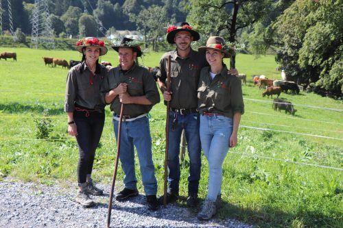 Die stolzen Älpler kehrten mit dem Vieh zurück ins Tal.MEK