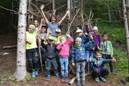 """Die Teilnehmer der """"Wild im Wald""""-Woche waren voller Begeisterung dabei.BI"""