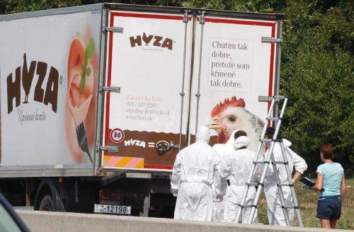 Drama auf der A4: In einem Kühl-Lkw kamen 71 Flüchtlinge ums Leben. AFP