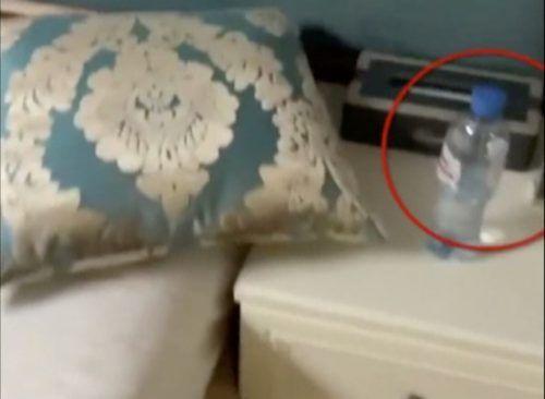 Eine Wasserflasche ist in dem Zimmer zu sehen. reuters/Instagram