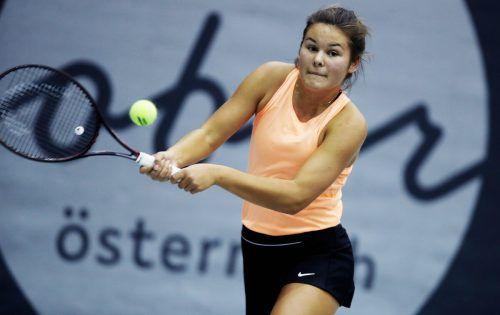 Emily Meyer muss zum erhofften Landesmeistertitel zunächst die Hürde Angelina Wachter im Viertelfinale nehmen.GEPA
