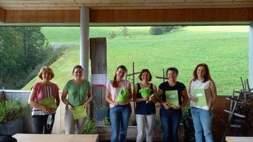 Emma Fischer (St. Gerold), Sabrina Benda (Fontanella), Angelika Zottele (Raggal), Elisabeth Pfefferkorn (Sonntag), Sabine Längle (Blons) und Elisabeth Öttl (Thüringerberg).BI