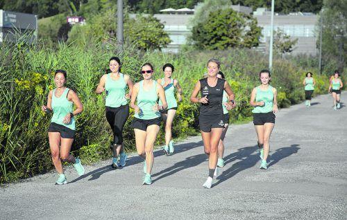 Endspurt für die Salomon-Ladys. Das Trainingsprogramm im Hinblick auf den Frauenlauf neigt sich dem Ende zu.Hartinger