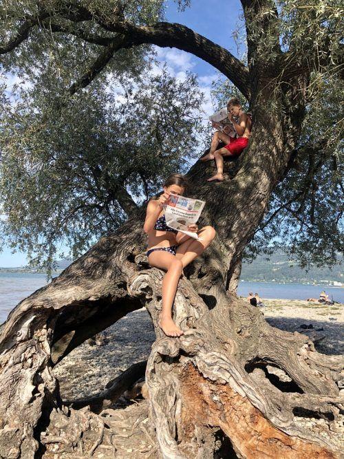 """""""Es hat sich angefühlt wie Erholung unter Palmen am Meer"""", schreibt Brigitte Salzmann zu dem Foto von Zita und Lorenz."""