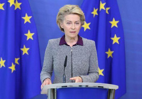 EU-Kommissionschefin von der Leyen mahnt Großbritannien. AFP