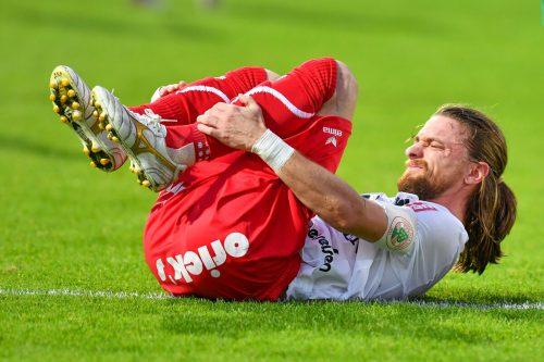 FC Dornbirns Kapitän Franco Joppi und seine Mannschaft mussten gegen die Amateure von Rapid Wien die erste Niederlage hinnehmen.Gepa