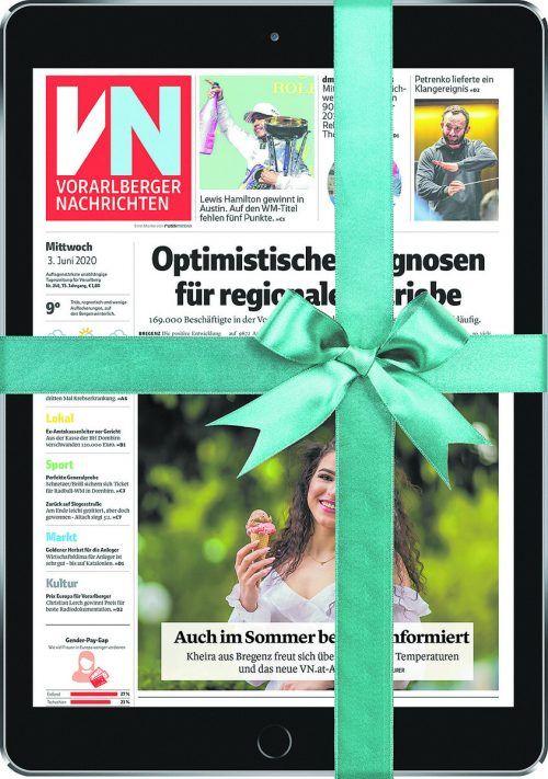 Feiern Sie mit uns 75 Jahre VN: Tablet und VN-Digital gibt es jetzt für VN-Abonnenten bereits ab 9,90 Euro im Monat.vn