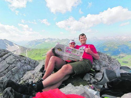 Gemütlich Bianca Walser hat mit Robin einen perfekten Urlaubstag auf der nördlichen Wösterspitze im Lechtal verbracht.