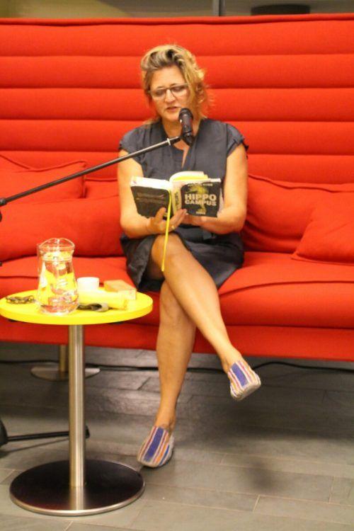 """Gertraud Klemm las aus ihrem Roman """"Hippocampus"""" vor.Heilmann+"""