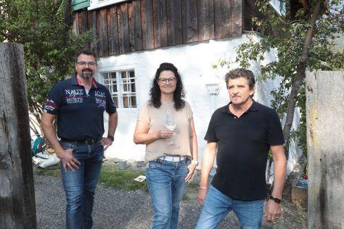 Helmut Moosbrugger, Michaela Berthold und Udo Santer.