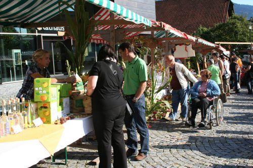 Heuer findet neben dem Käsemarkt der Bäuerinnen ein zweiter Markt mit regionalen Produkten statt.em