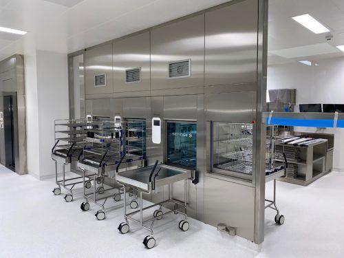 Hier werden die medizinischen Geräte gereinigt: Die neue Sterilisationsabteilung im Dornbirner Stadtspital steht kurz vor der Eröffnung.STD