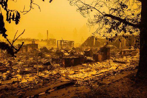 In Oregon wurden fünf Städte weitgehend zerstört. AFP