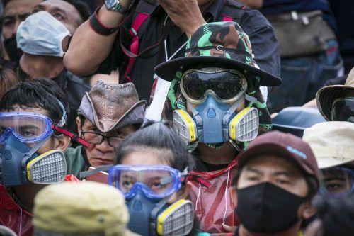 InThailands Hauptstadt Bangkok demonstrierten Tausende Menschen gegen die Regierung und das thailändische Königshaus. AP