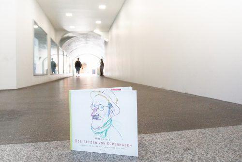 Ein Jahr lang gibt es die Installation in der James-Joyce-Passage zu bewundern. Kühne