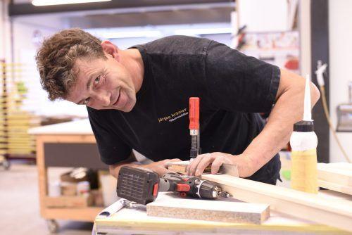 Jürgen Krämer in seiner Werkstatt im Millennium Park.Gemeinde