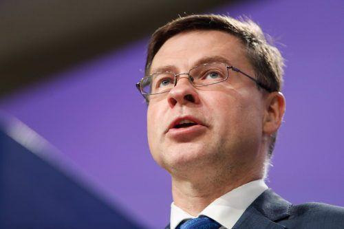 Kommissionsvizepräsident Dombrovskis übernimmt das Handelsressort. AFP