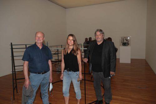 Kurator Manfred Egender, Christine Zettler und Karlheinz Pichler. Franc