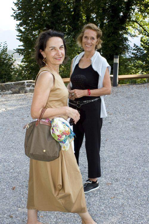 Marie-Claire Rhomberg (l.) kam mit Elsbeth Winsauer-Zangerle.