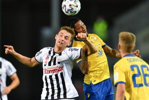 Marko Raguz war mit seinen beiden Treffern beim 7:0-Sieg in der Europa-League-Qualifikation gegen Dunajska Streda maßgeblich beteiligt.gepa