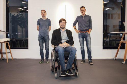 Mathias Schneider (Möbeltronic), Jasper Reichardt (Blackriver) und Christof Gabriel (Matchtime).