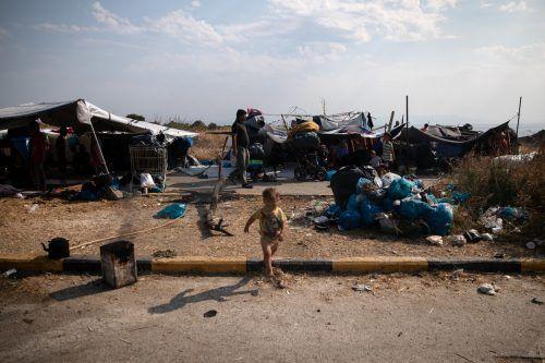 Menschliches Elend in abgebrannten Lagern auf Lesbos sorgt für emotionale Diskussion in Bund und Land. Reuters, VN