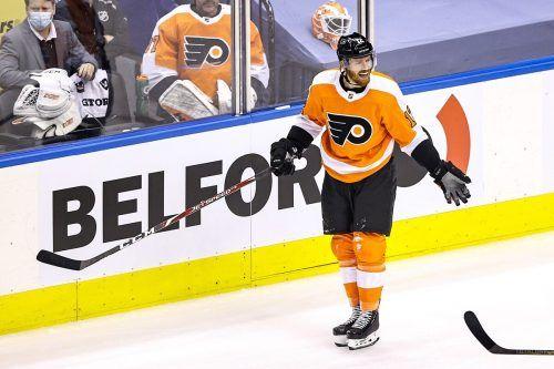 Michael Raffl ist aktuell bei den Philadelphia Flyers zum Zusehen verdammt.apa