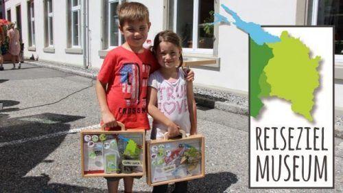 Mit dem Koffer von Museum zu Museum. Eines der Reiseziele ist die Vorarlberger Museumswelt.Heilmann