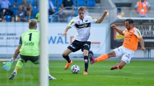 Mit seinem fünften Bundesligatreffer war es Daniel Nussbaumer vorbehalten, das erste Tor der Altacher in der Saison 2020/21 zu erzielen.gepa