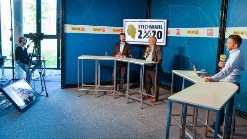 Moritz Moser und Wolfgang Burtscher analysierten im VN.at-Wahlstudio.